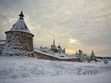 Zasněžený klášter Solovetsky
