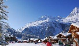 Alpská vesnička Sainte-Foy-Tarentaise