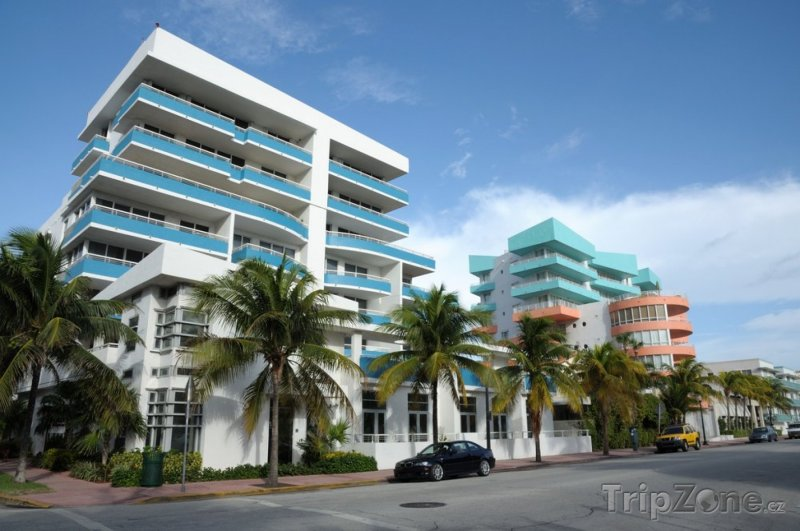 Fotka, Foto Art Deco Ocean Drive na South Beach v Miami, Florida (Miami, USA)