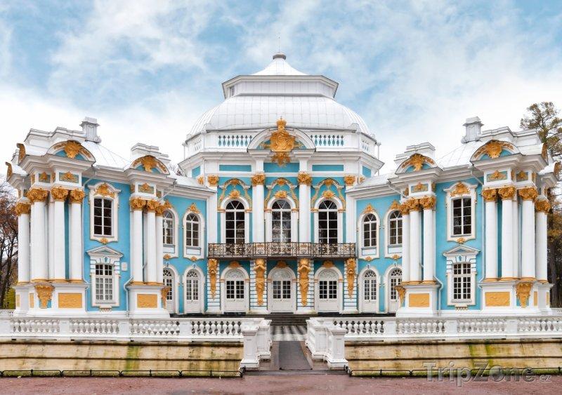 Fotka, Foto Carské Selo (Puškin), pavilon v Kateřinské zahradě (Petrohrad, Rusko)