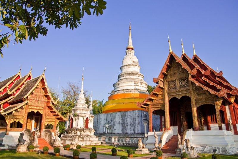 Fotka, Foto Chrám Wat Phra Singh (Chiang Mai, Thajsko)