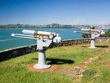 Devonport, staré kanony naproti přístavu
