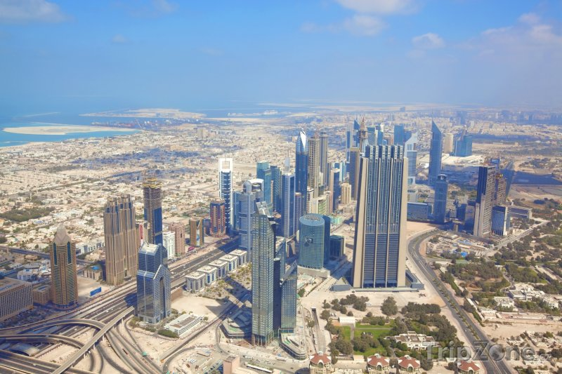Fotka, Foto Dubaj, panorama města (Dubaj, Spojené arabské emiráty)