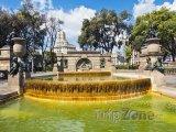 Fontána v Nou Barris Central Parku