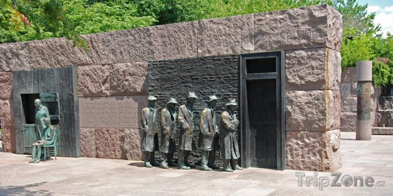 Fotka, Foto Franklin Delano Roosevelt památník (Washington D.C., USA)