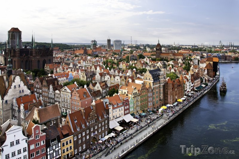 Fotka, Foto Gdaňsk, panorama města (Polsko)
