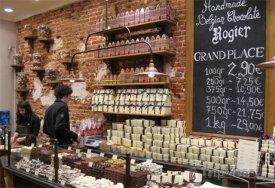 Govinda, obchod s pralinkami v Bruselu