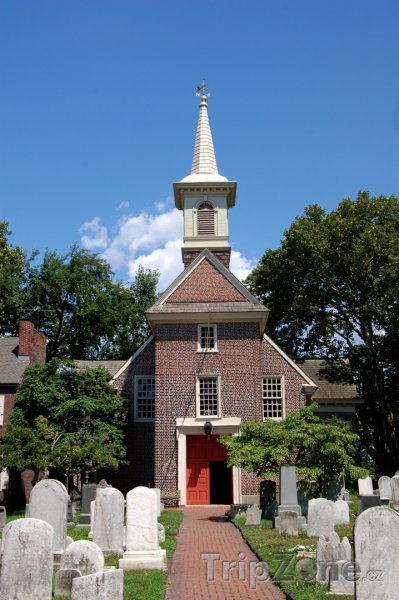Fotka, Foto Historický hřbitov s kostelem Gloria Dei (Filadelfie, USA)