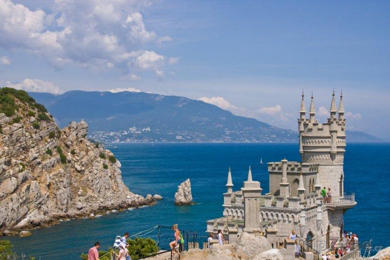 Fotka, Foto Jalta, zámek Vlaštovčí hnízdo (Ukrajina)