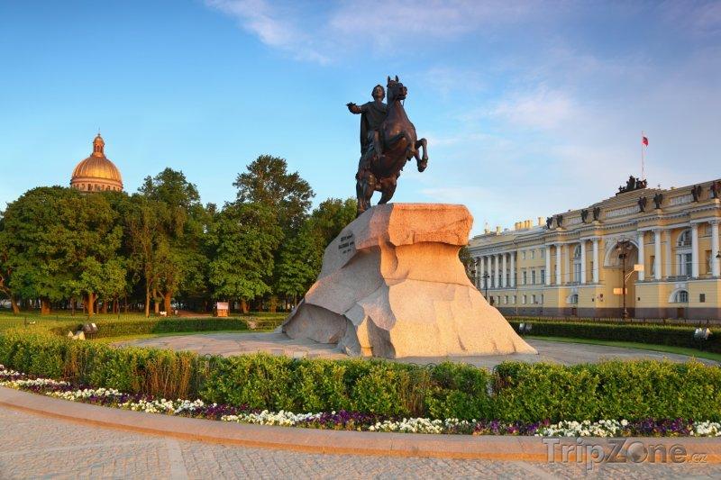 Fotka, Foto Jezdecká socha Petra Velikého (Petrohrad, Rusko)