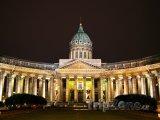 Kazaňský chrám v noci