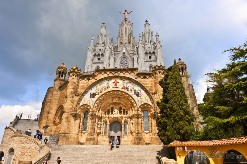 Fotka, Foto Kostel Sagrat Cor na kopci Tibidabo (Barcelona, Španělsko)