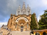 Kostel Sagrat Cor na kopci Tibidabo