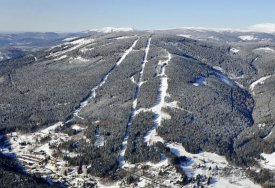Letecký pohled na Černou horu