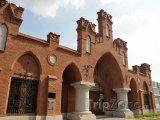 Lodž, historická budova továrny