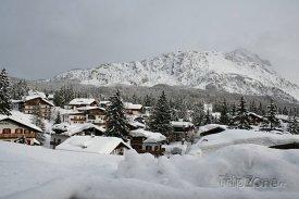Lyžařské městečko Cortina d'Ampezzo