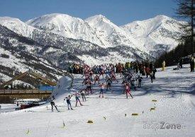 Lyžařské městečko Pragelato