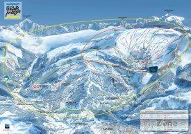 Mapa lyžařského rezortu Grand Massif