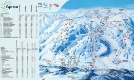 Mapa lyžařského střediska Aprica