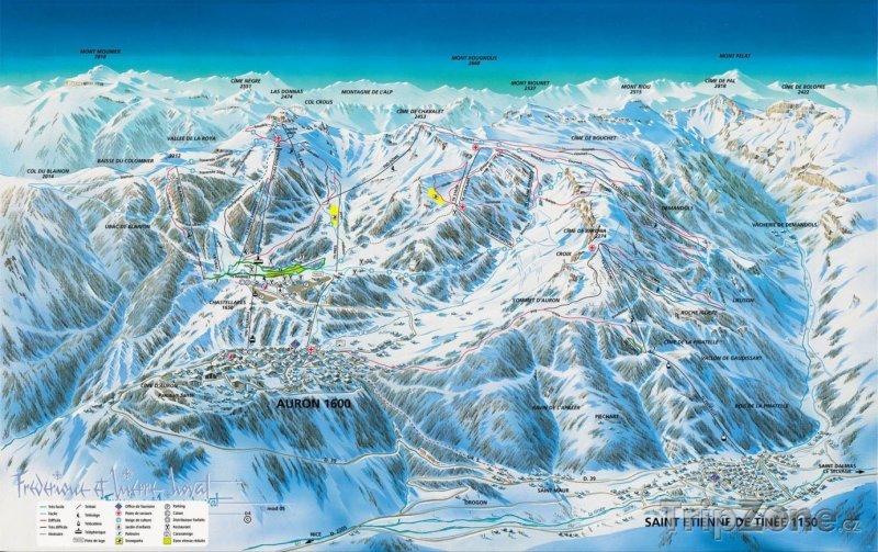 Fotka, Foto Mapa lyžařského střediska Auron