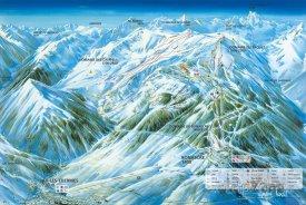 Mapa lyžařského střediska Ax 3 Domaines