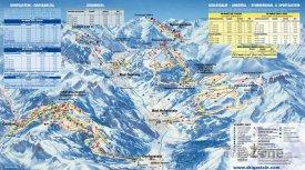Mapa lyžařského střediska Bad Gastein