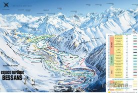 Mapa lyžařského střediska Bessans