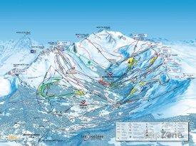 Mapa lyžařského střediska Brides-les-Bains