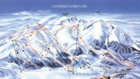 Mapa lyžařského střediska Campitello Matese