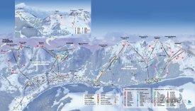 Mapa lyžäřského střediska Châtel