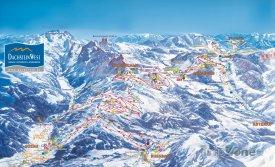 Mapa lyžařského střediska Dachstein West