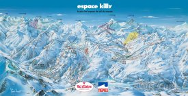Mapa lyžařského střediska Espace Killy