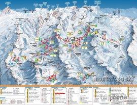 Mapa lyžařského střediska Gressoney-La-Trinité