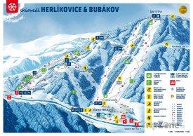 Mapa lyžařského střediska Herlíkovice - Bubákov
