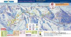Mapa lyžařského střediska La Mongie
