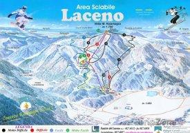 Mapa lyžařského střediska Laceno