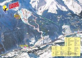 Mapa lyžařského střediska Ladurns