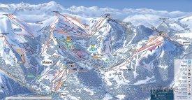 Mapa lyžařského střediska Les Gets