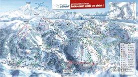 Mapa lyžařského střediska Les Saisies