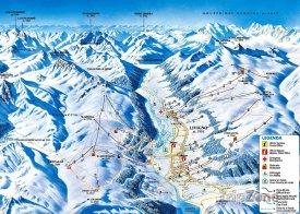 Mapa lyžařského střediska Livigno