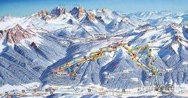 Mapa lyžařského střediska Madonna di Campiglio
