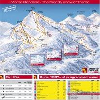 Mapa lyžařského střediska Monte-Bondone