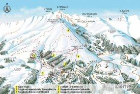 Mapa lyžařského střediska Monte Terminillo
