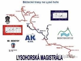 Mapa lyžařského střediska Moravskoslezské Beskydy - Lysá hora
