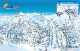 Mapa lyžařského střediska Paradiski