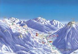 Mapa lyžařského střediska Piancavallo