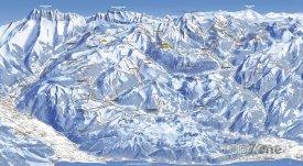Mapa lyžařského střediska Portes du Soleil
