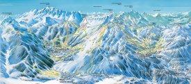 Mapa lyžařského střediska Risoul