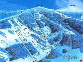 Mapa lyžařského střediska Rokytnice nad Jizerou