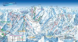 Mapa lyžařského střediska Sauze d'Oulx-Jouvencaux